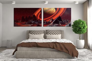 2 piece canvas art print, bedroom wall art, landscape canvas photography, landscape artwork, landscape art
