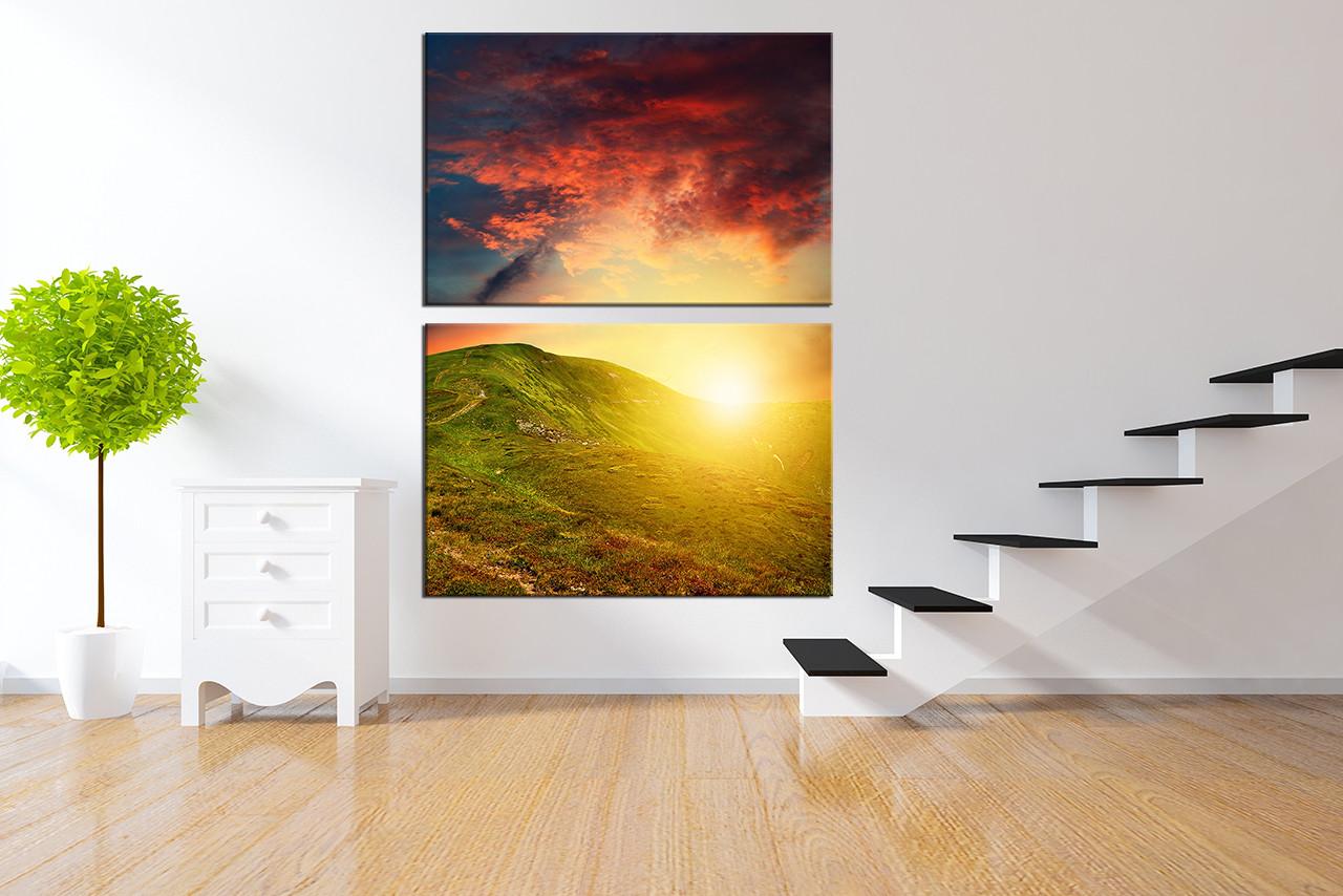 2 Piece Canvas Wall Art 2 piece canvas photography, mountain large pictures, landscape