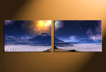home decor, 2 piece group canvas, landscape canvas print, mountain canvas print, landscape artwork