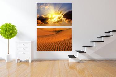 desert wall art, 2 piece multi panel art, landscape wall art, landscape large pictures, landscape artwork
