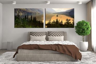 2 piece canvas print, bedroom canvas photography, landscape green pictures, landscape canvas art print, landscape wall art