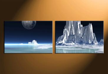 home decor art, 2 piece canvas art prints, landscape canvas print, landscape white group canvas, landscape pictures