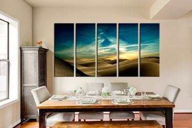 dining room decor, 5 piece canvas art prints, mountain canvas print, desert canvas print, landscape large canvas