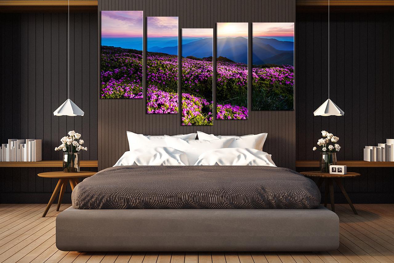 5 piece huge canvas art bedroom large pictures landscape canvas art prints blue
