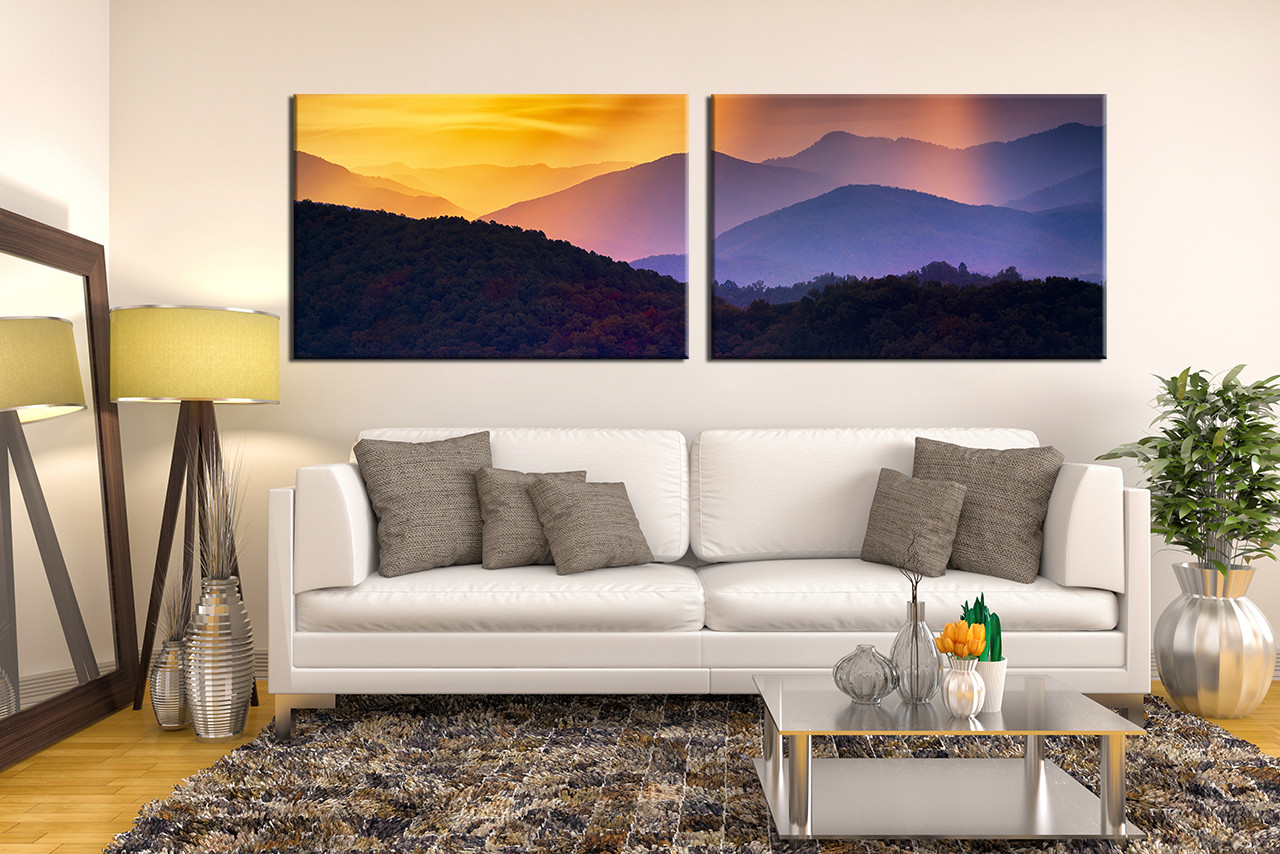 2 piece wall decor panoramic landscape photo canvas mountain 2 piece multi panel art living room photo canvas landscape canvas photography landscape amipublicfo Image collections