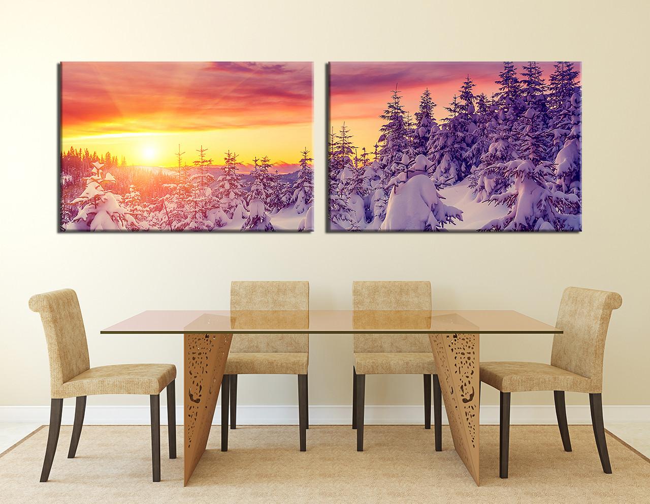 Dining Room Decor, 2 Piece Wall Art, Scenery Multi Panel Art, Scenery  Artwork Part 76