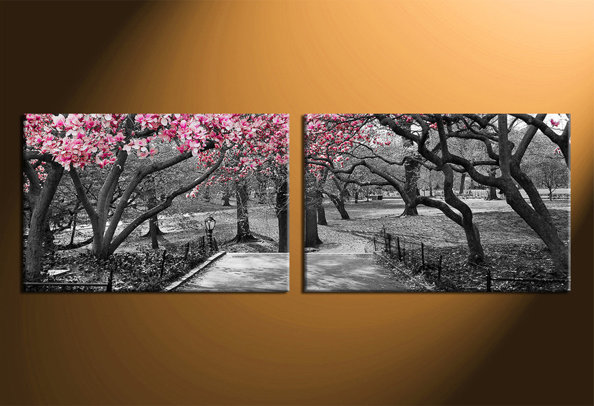 2 Piece Large Pictures, Panoramic Canvas Wall Art, Scenery Decor ...