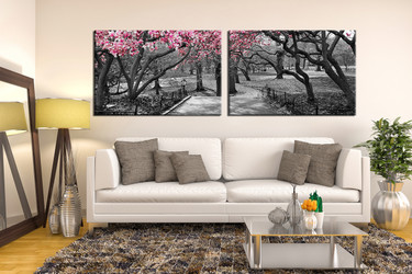 2 Piece Huge Canvas Art, Living Room Canvas Art Prints, Black And White Art
