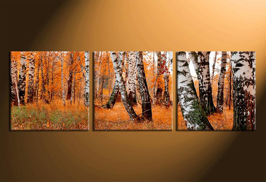 3 Piece Canvas Print, Scenery Canvas Photography, Orange Trees Wall ...