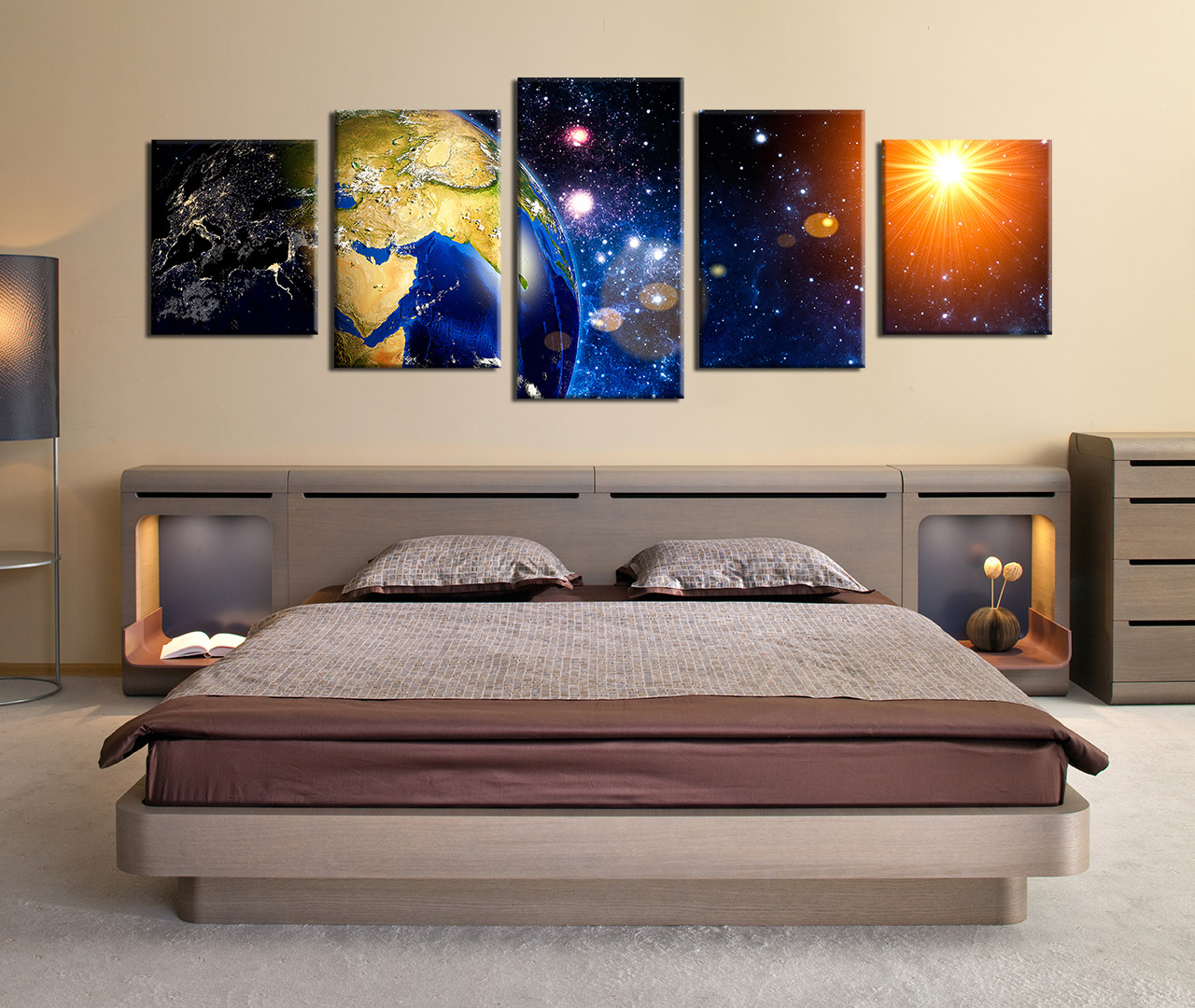 5 piece group canvas stars canvas photography panoramic. Black Bedroom Furniture Sets. Home Design Ideas