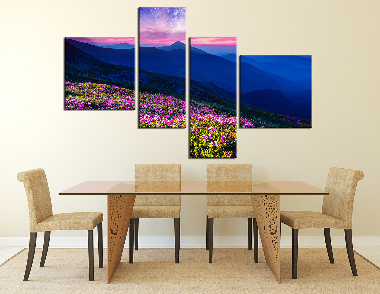piece huge canvas art blue mountain multi panel canvas landscape