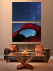 2 piece huge canvas art, living room group canvas, landscape multi panel art, red landscape canvas art prints, red large pictures