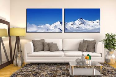living room wall art, 2 piece wall art, landscape multi panel art, snow landscape large pictures, landscape photo canvas