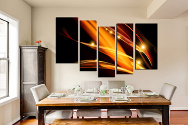 dining room art, 5 piece artwork, abstract art, abstract photo canvas, abstract large canvas