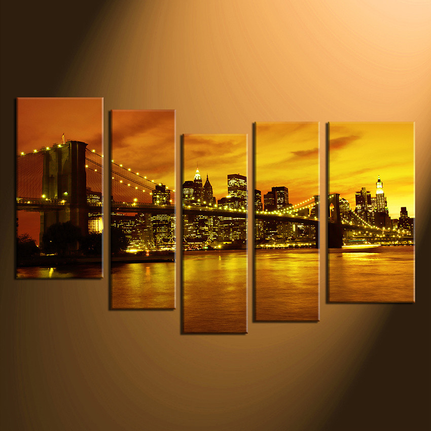 5 piece canvas print home decor cityscape group canvas new york large pictures