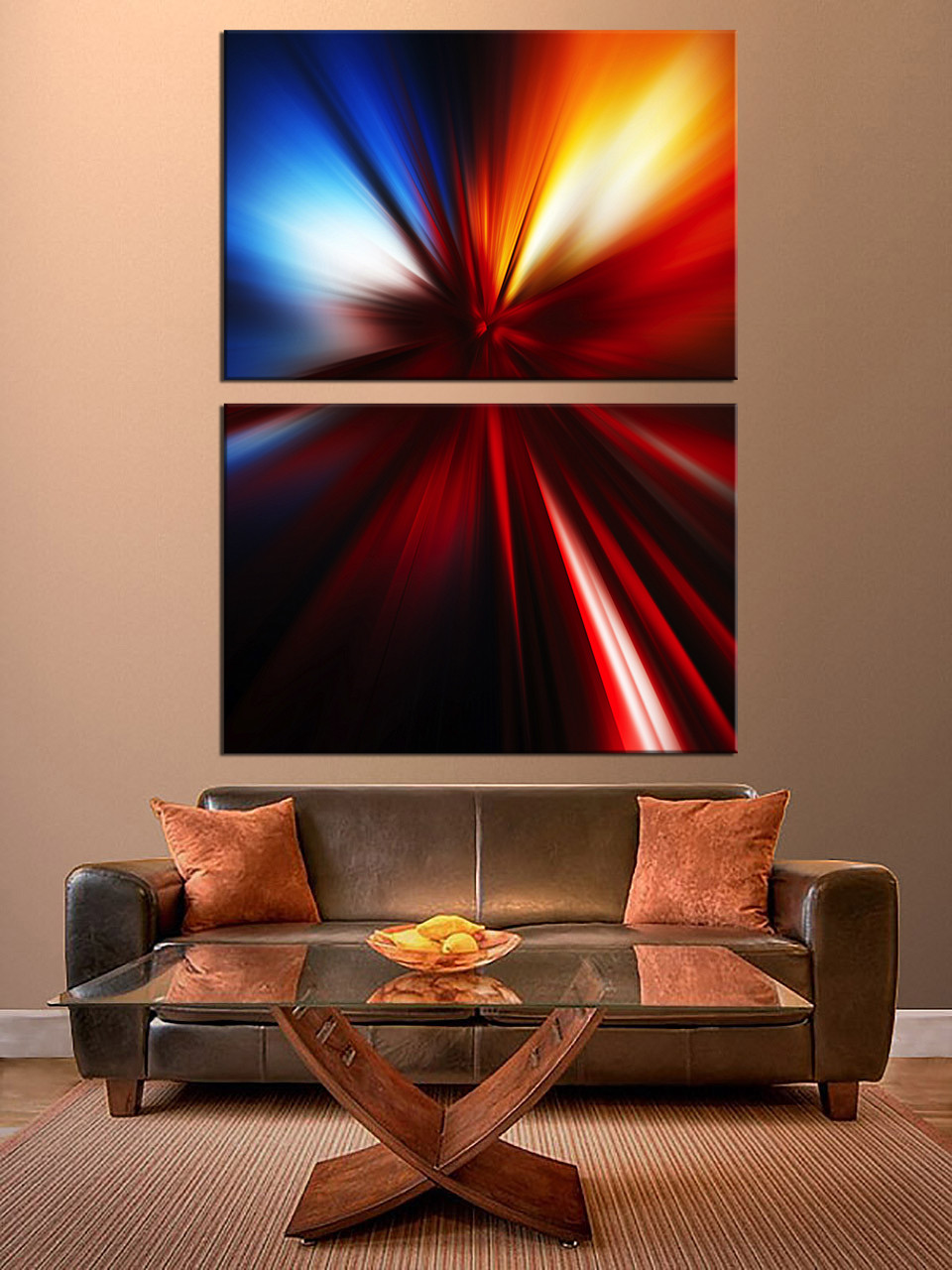 Multi Panel Canvas Wall Art 2 piece canvas wall art, red abstract photo canvas, abstract multi