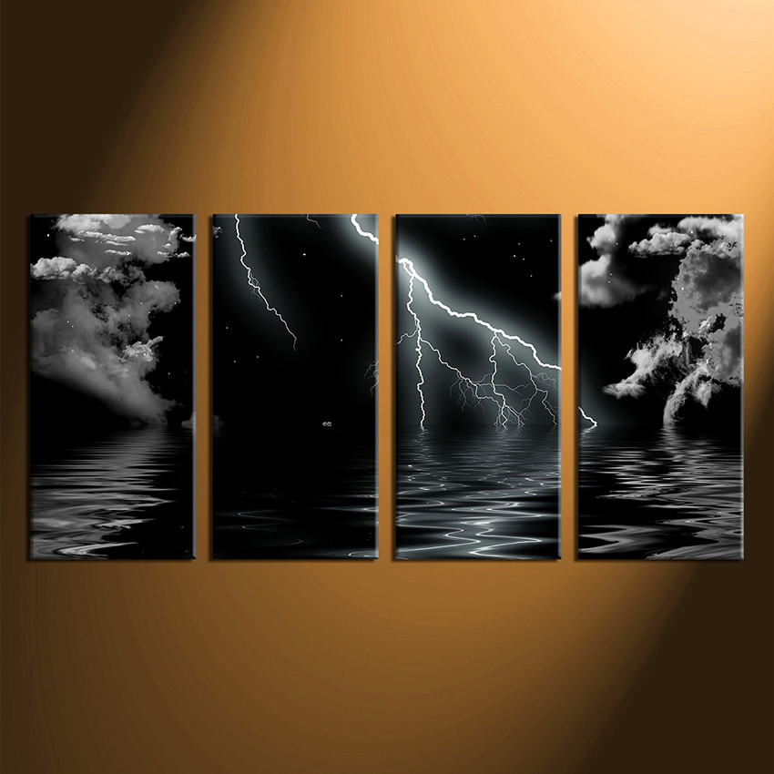 4 Piece Wall Art 4 piece canvas wall art, ocean photo canvas, black and white sea