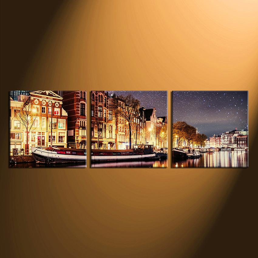 3 piece artwork panoramic canvas art prints star huge multi panel