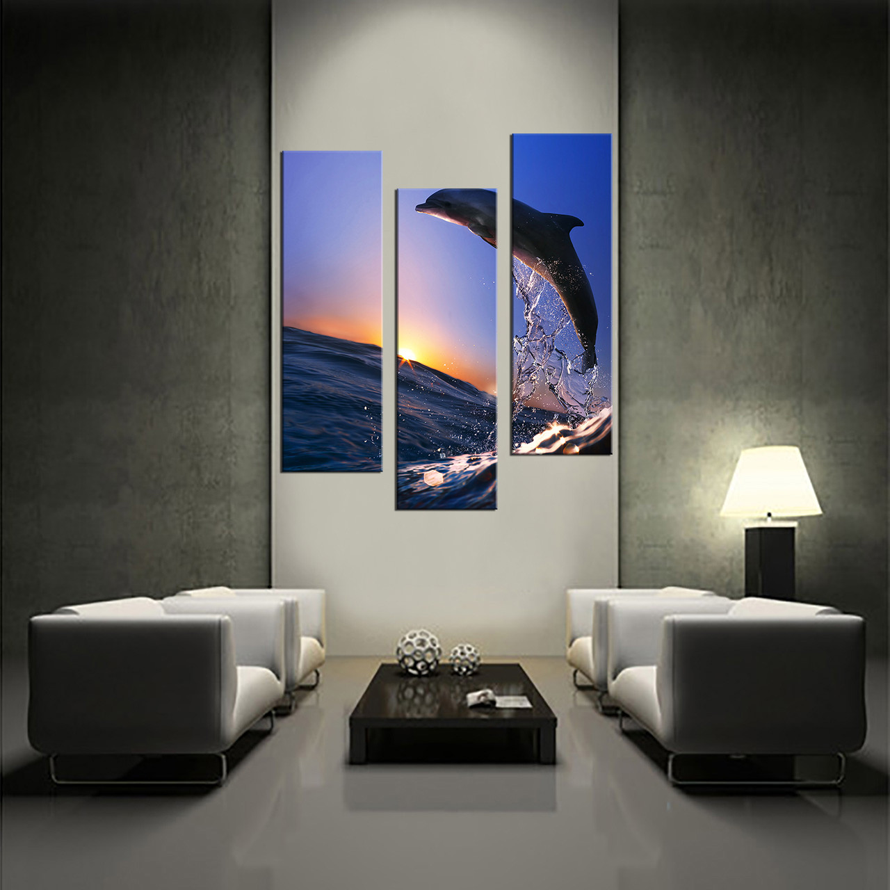 Living Room Wall Art, 3 Piece Huge Canvas Art, Horse Multi Panel Art,