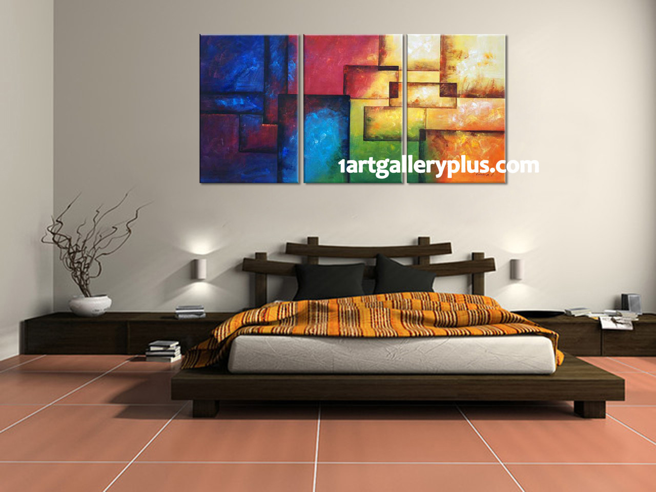 Triptych wall decor colorful artwork abstract huge canvas art 3 piece canvas print bedroom large pictures colorful artwork abstract wall decor amipublicfo Image collections