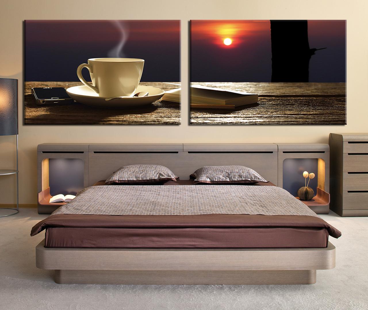 Bedroom Decor, 2 Piece Wall Art, Coffee Beans Canvas Art Prints, Kitchen  Multi