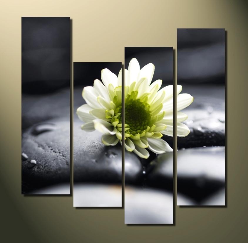 4 piece large pictures white floral group canvas flowers multi 4 piece canvas wall art home decor floral multi panel canvas white large mightylinksfo