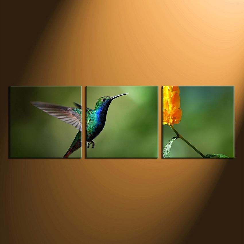 Genial 3 Piece Canvas Wall Art, Home Decor, Green Hummingbird Group Canvas,  Wildlife Canvas