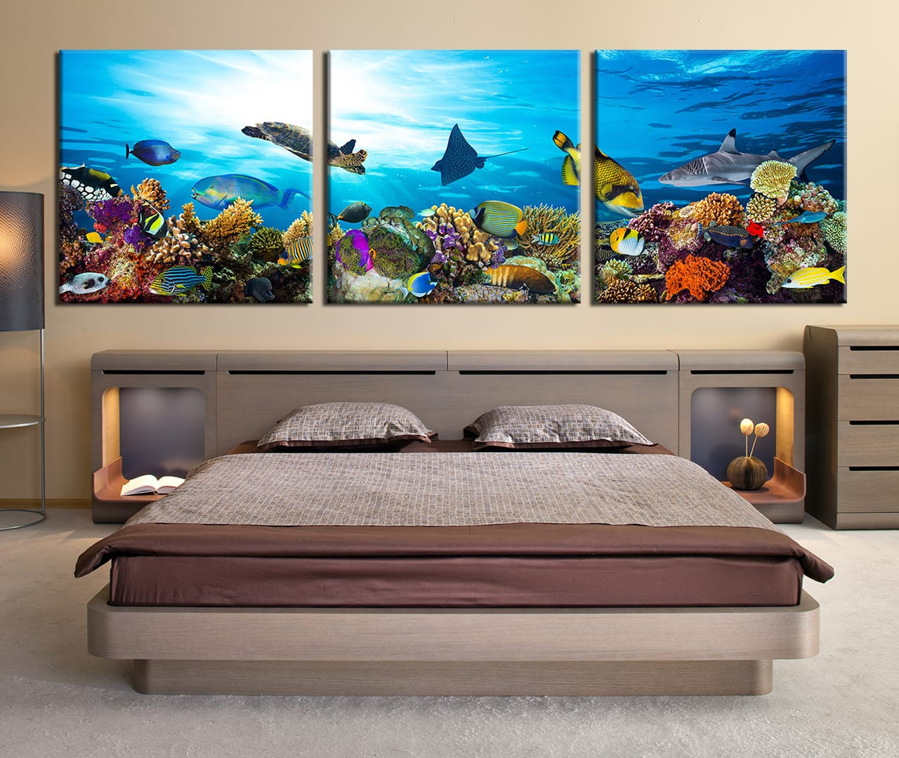 3 piece canvas wall art fish large pictures turtle multi panel 3 piece canvas wall decor bedroom large canvas fish huge canvas art turtle amipublicfo Gallery