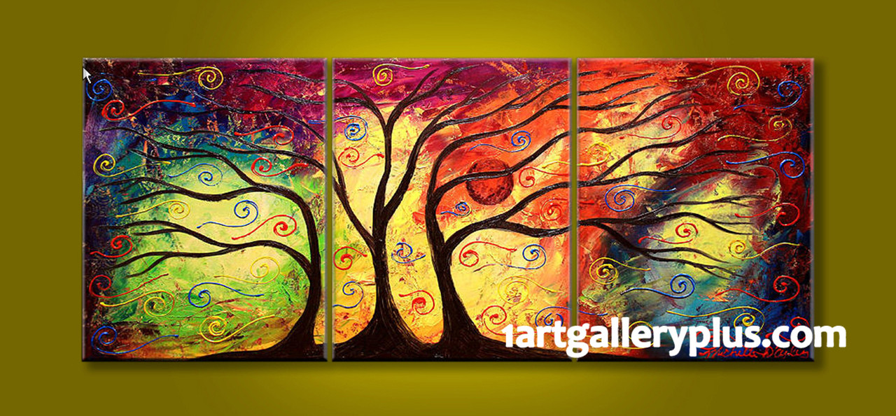 3 Piece Huge Pictures, Abstract Colorful Photo Canvas, Oil Painting ...
