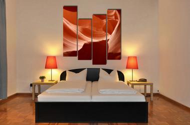 bedroom decor, 4 piece wall art, landscape large pictures, orange wall art, landscape huge pictures