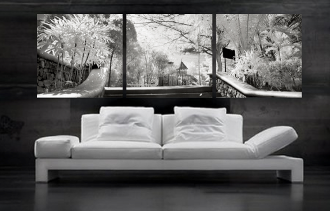 3 piece canvas print, living room photo canvas, scenery artwork, gray canvas print, panoramic huge canvas art