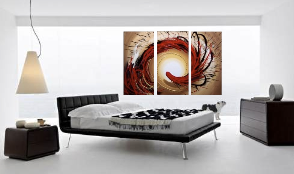 3 Piece Canvas Art , Bedroom Wall Art, Abstract Canvas Photography, Brown Abstract  Artwork