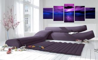 5 piece multi panel art, ocean canvas wall art, living room canvas photography, ocean wall art
