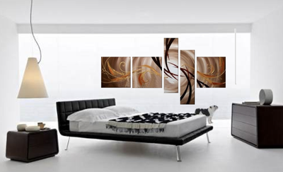 5 piece canvas wall art, bedroom multi panel canvas, abstract large pictures, brown photo canvas, oil painting canvas photography