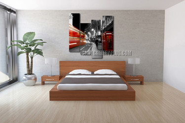 4 piece canvas print, grey city canvas photography, bedroom large pictures, city canvas wall art, city decor