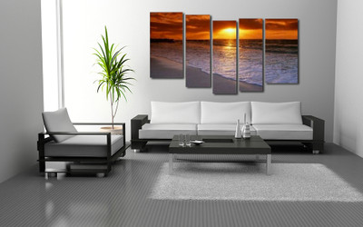 5 piece artwork, living room canvas photography, ocean canvas wall art, ocean group canvas ocean artwork