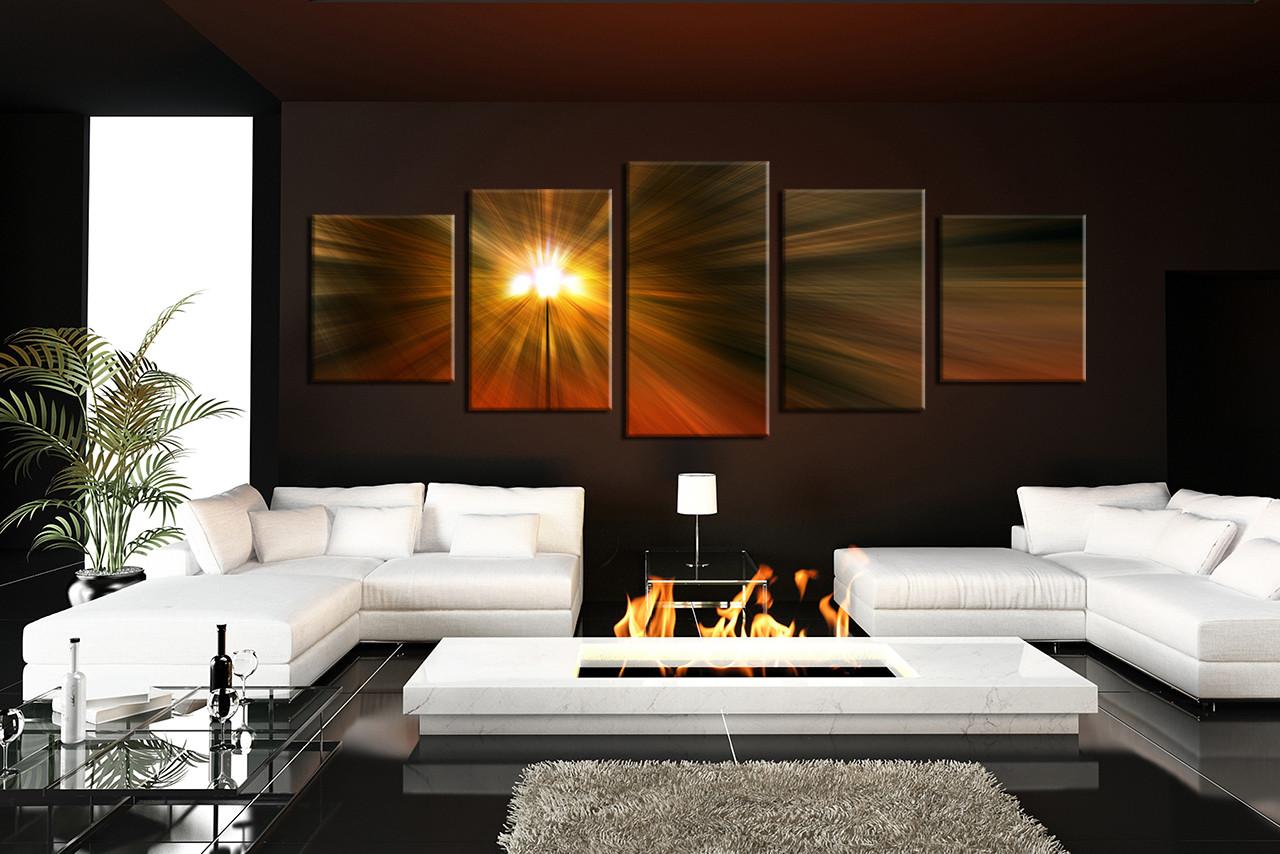 Living Room Art, 5 Piece Canvas Wall Art, Abstract Decor, Abstract Artwork,