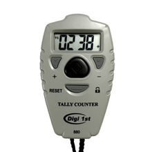 Digi 1st TC-880 Digital Count Up/Down Tally Counter. With this simple large display digital tally counter, you can add or subtract the counts very easily. This tally & pitch counter is great for training or outdoor sports such as basketball, baseball, and golf.