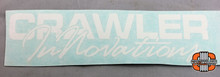 "8x2"" CI Script White Vinyl Transfer Sticker"