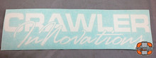 "12x3"" CI Script White Vinyl Transfer Sticker"