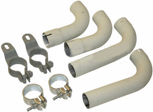 Porsche 356B & 356C Tail Pipe Kit With Clamps, Dansk
