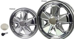 Porsche 911, 912, Fuchs Wheels , Triple Chrome or Polished, New
