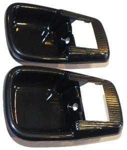 Porsche 914 Door Panel Rosette, Black Plastic, Pair, 914 70-76