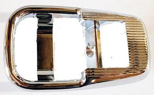 Porsche 914 Rosette, Door Panel, Chrome, Metal
