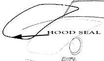 Porsche Trunk Seal, 356A, 356B, 356C