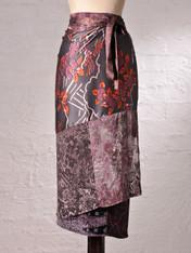 Plum Blossom Wrap Skirt