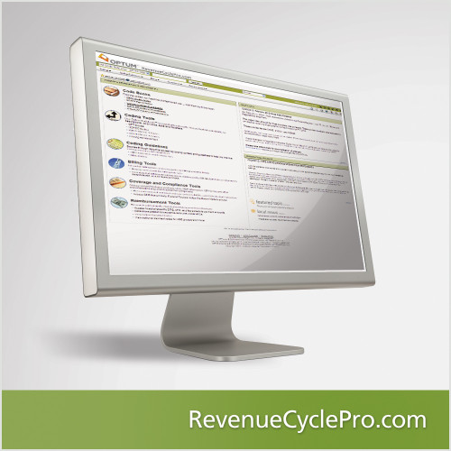 RevenueCyclePro.com is a comprehensive online referential tool hospitals can use to access data and medical code sets, answer questions about coding, billing, coverage and reimbursement, and resolve edits, problems and issues to minimize noncompliance exposure. Includes ICD-9 to ICD-10 mapping information and an enhanced APC calculator.  RevenueCyclePro.com increases efficiency across the entire revenue cycle.
