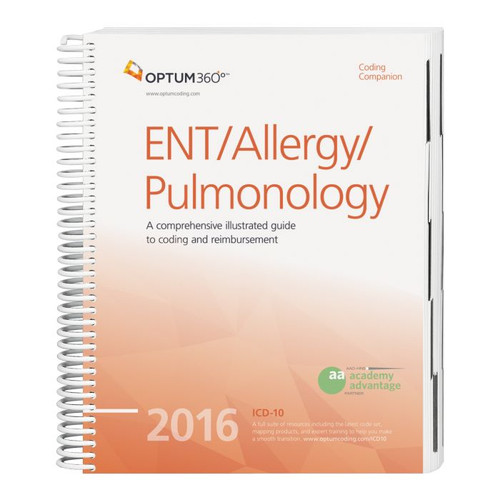 Coding Companion for ENT/Allergy/Pulmonology 2016. Co-produced with the American Academy of Otolaryngology—Head and Neck Surgery (AAO-HNS), this comprehensive and easy-to-use guide includes 2016 CPT®, HCPCS, and ICD-10-CM code sets specific to ENT, allergy, and pulmonology.