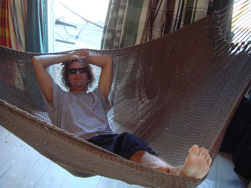 Plenty of room to stretch out in our Earth tone Costa Rican Style soft sided hammock.