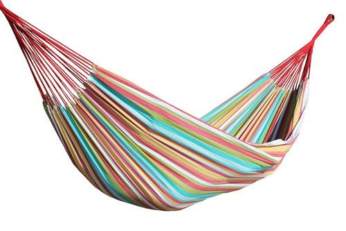 brazilian style double hammock colorful cotton stripes